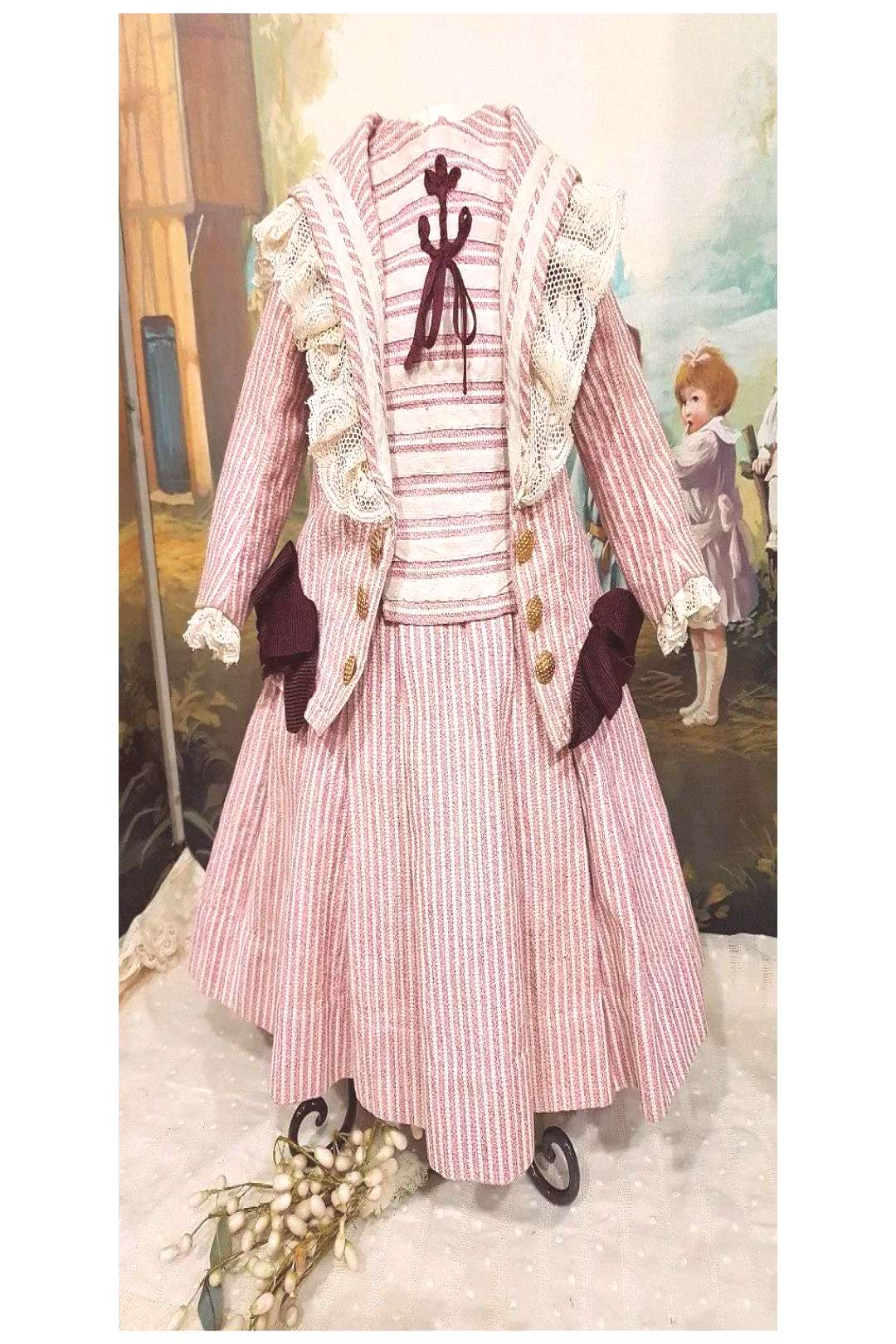~~~ French Dolls Factory Sailor Costume size 12 Bebe from 19th. Century ~~~
