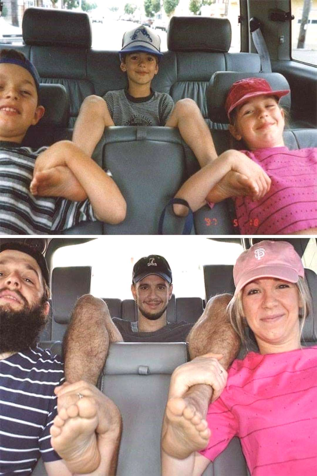 13 Families Recreate Their Childhood Photos And Hilarity Ensues - Getting the gang back together f