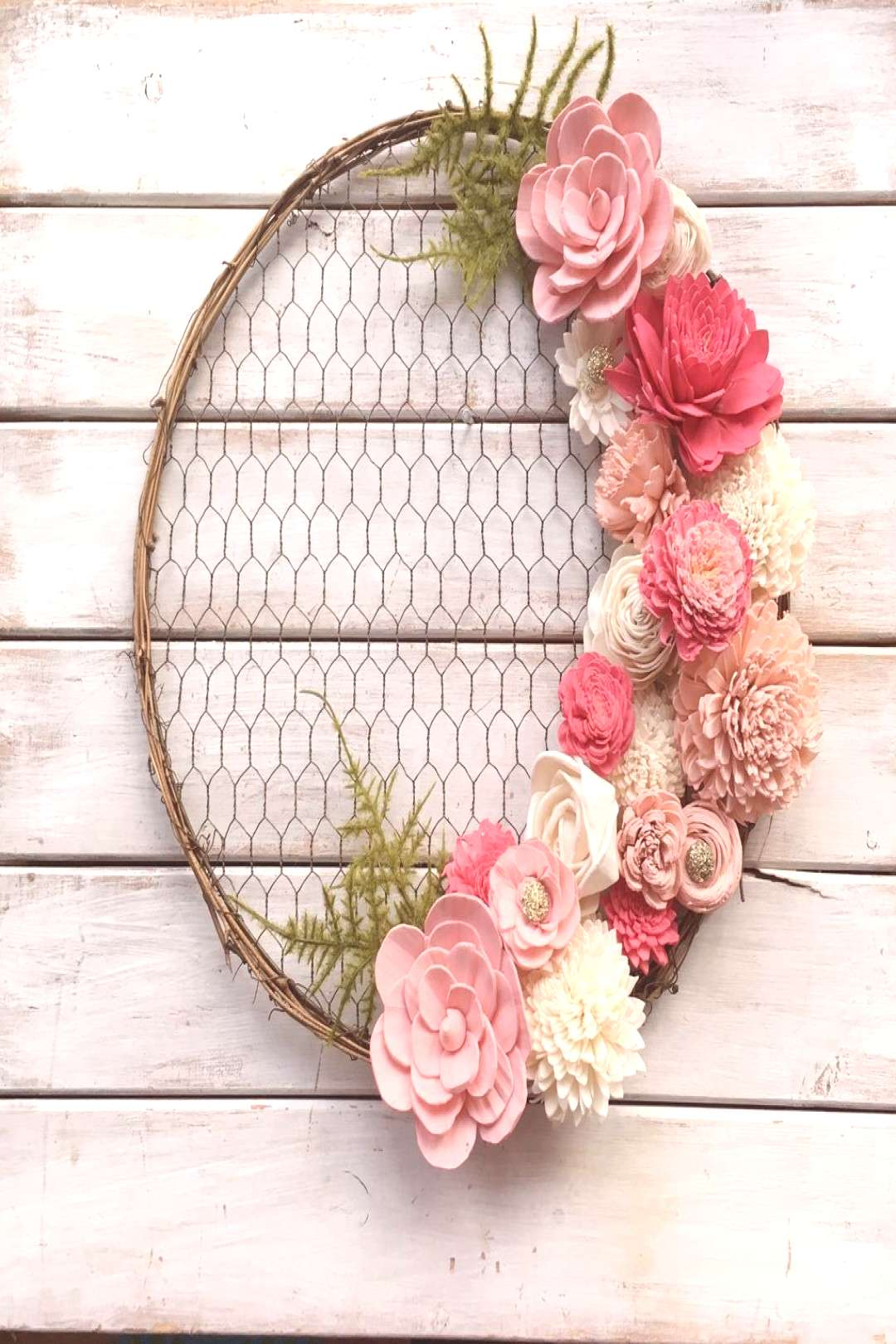 14 inch Round Chicken Wire Wreath Form - Oh! Youre Lovely - Sola Wood Flowers