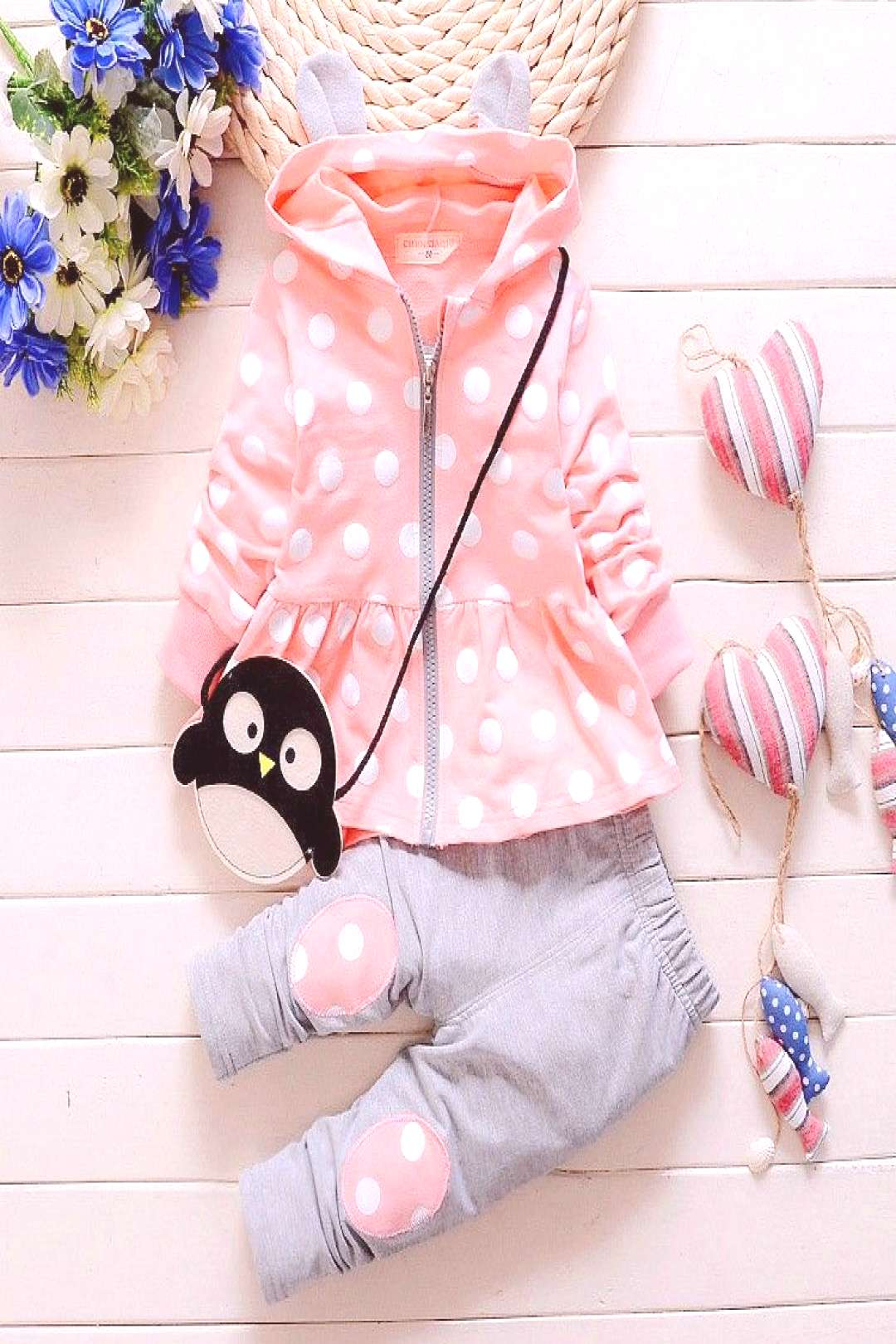 2016 Spring New Kids girls suit set Korean version of casual cotton hooded jacket pants two suits b