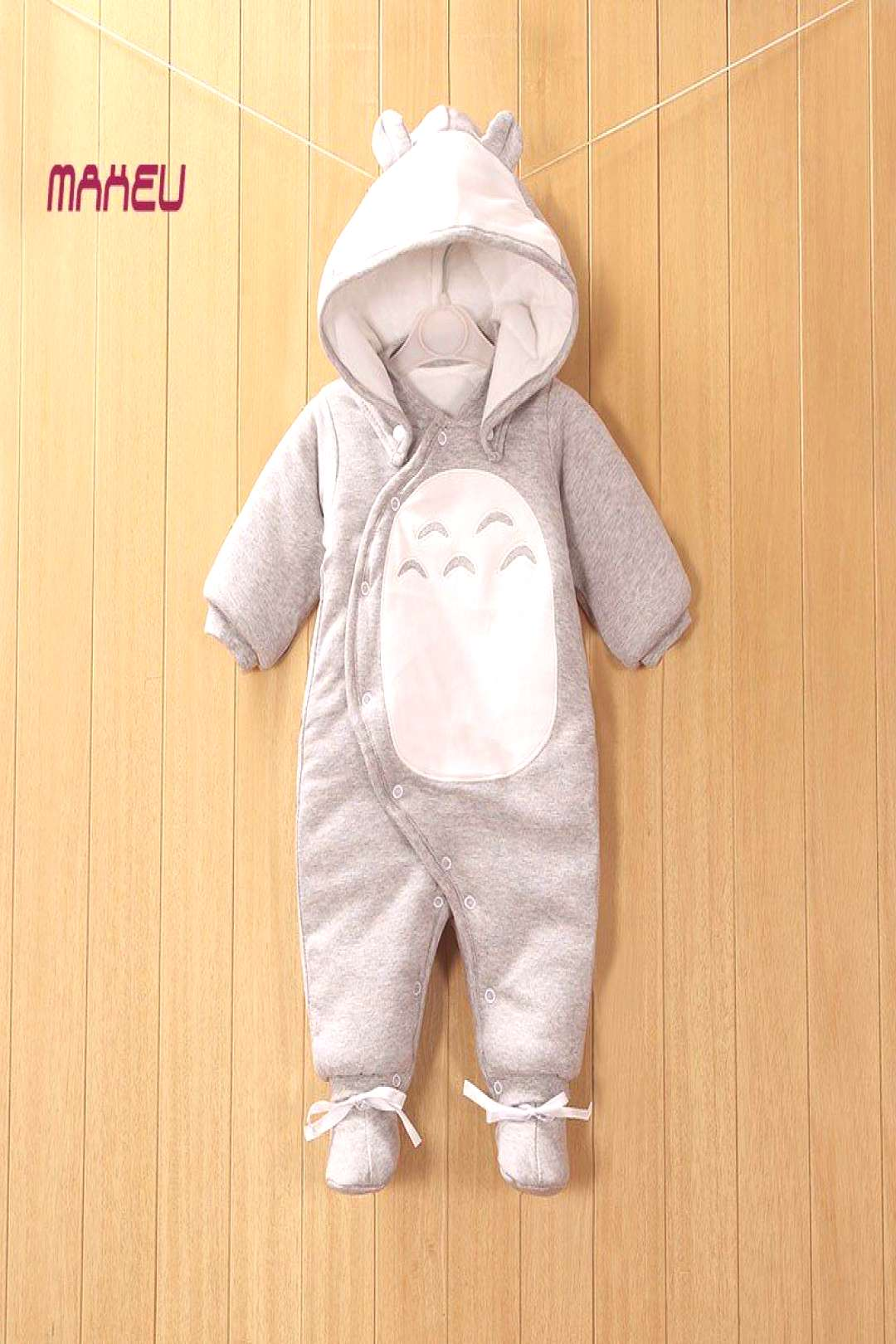 2017 New Clothes Detachable Newborn Baby Cotton One-piece Thick Hooded Baby Warm Winter Clothes Rom