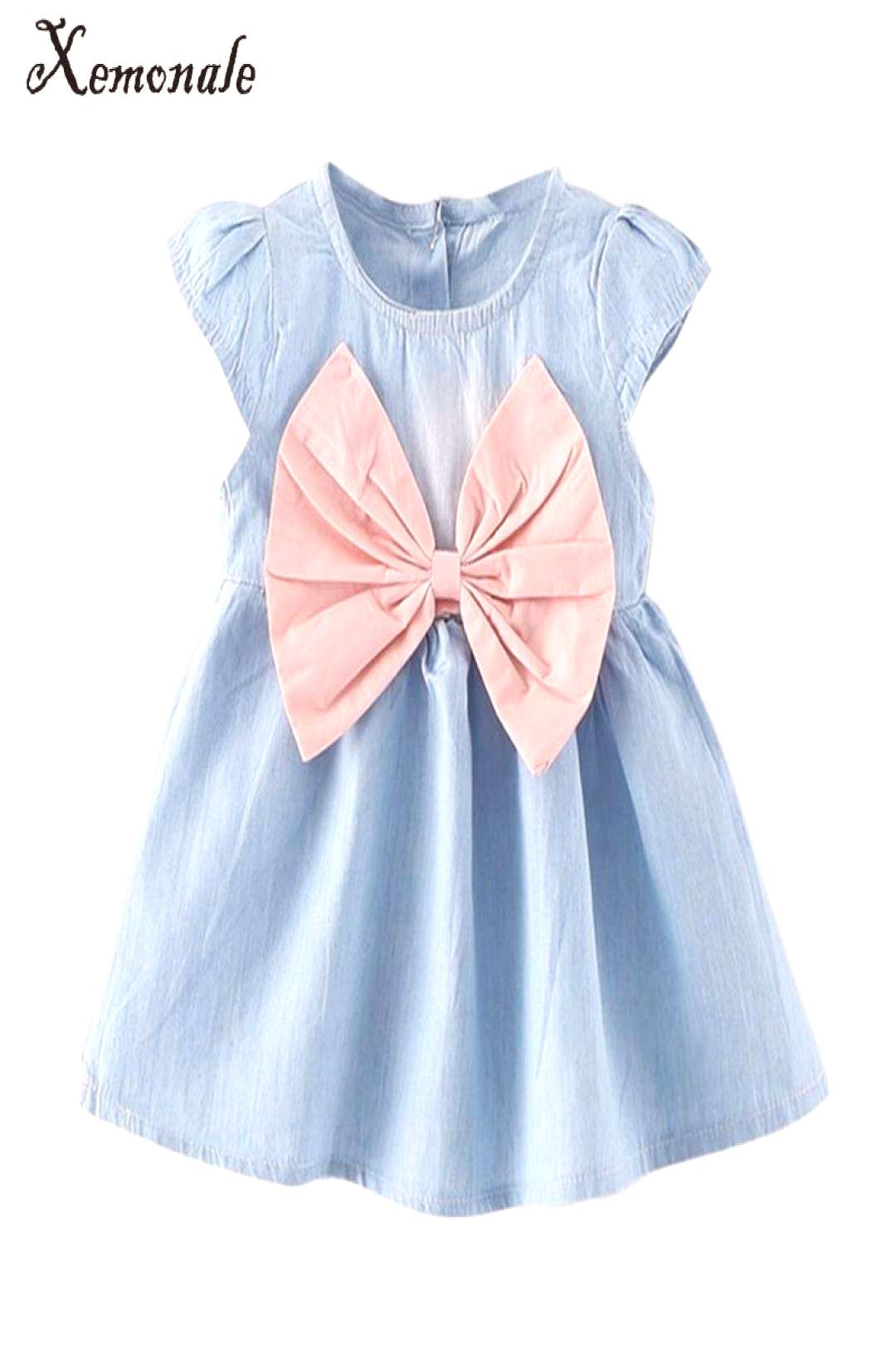2017 new design style baby mini children summer wear short sleeved dress fashion party baby toddler