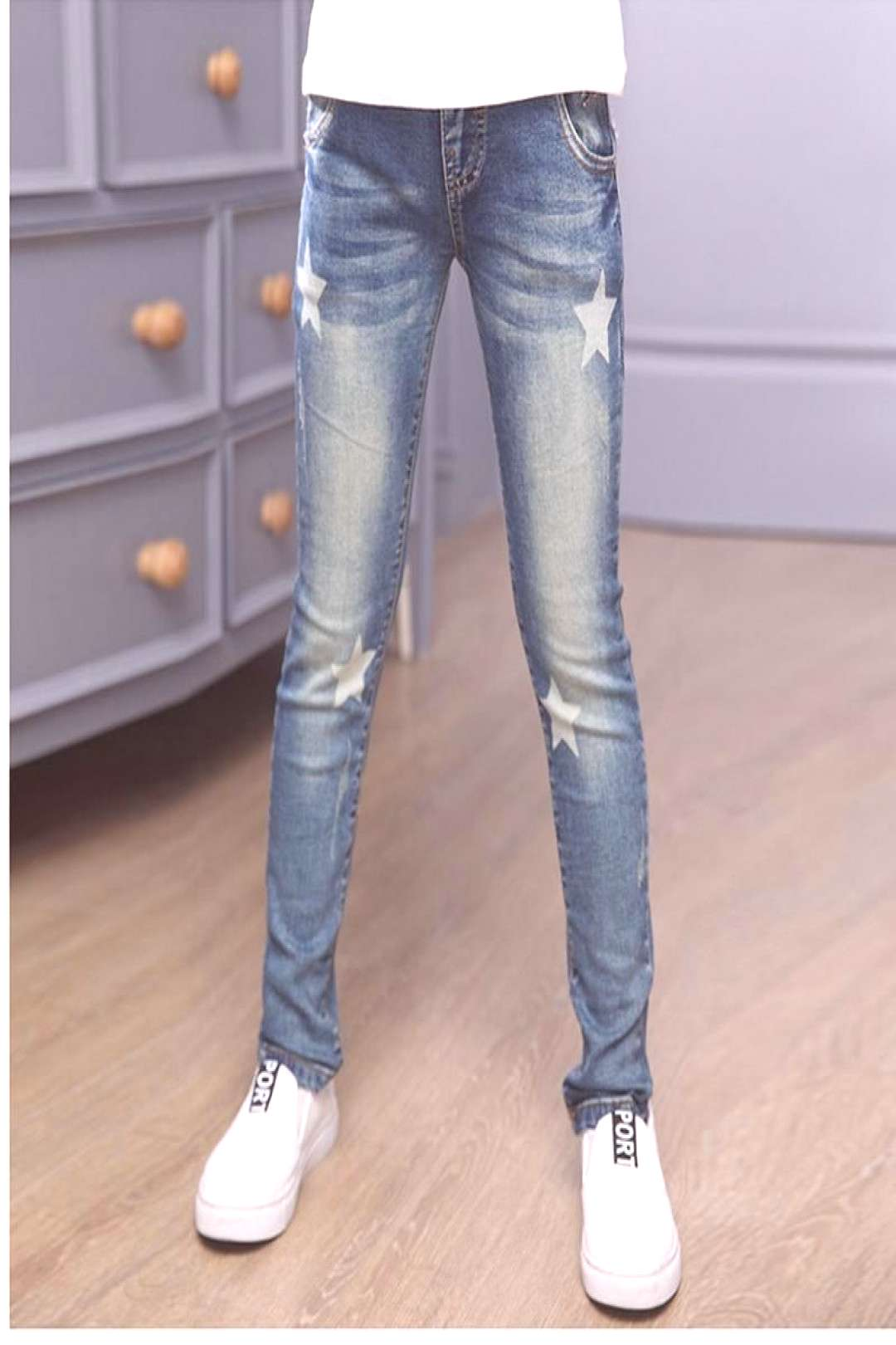 2017 New Style Baby Girl Jeans Lovely Kids Pants Casual Trousers Children Clothes Denim Pants For G
