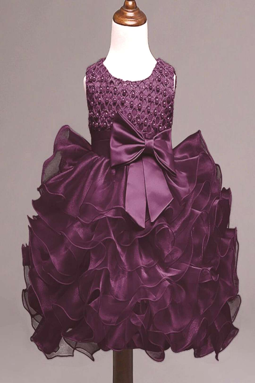 2017 Summer Newborn Formal Dress Purple Sleeveless Infant Baptism Ball Gown Dress Clothes For Toddl