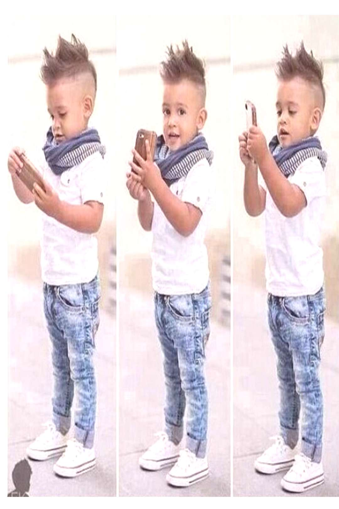 2-7Y Baby Boys Gentleman White Tees Short Sleeves Shirt+Denim Jeans Pants Clothes Outfits Set - Buy