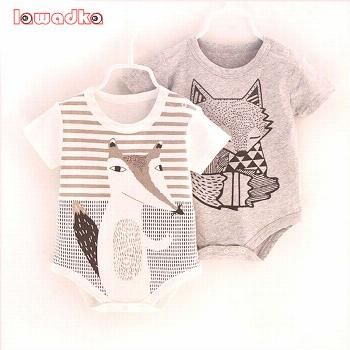 100%Cotton Short Sleeve Baby Rompers Print Newborn Infant Clothing Toddler Boy Girls Jumpsuits Bebe