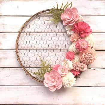 14 inch Round Chicken Wire Wreath Form - Oh! You're Lovely - Sola Wood Flowers