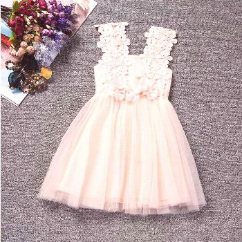 2017 Baby Girl Flowers Dress For Wedding Party Children Princess Costume Kids Baptism clothes 1 Yea