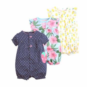 2017 orangemom baby girl clothes one-pieces jumpsuits baby clothing ,cotton short romper infant gir