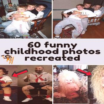 60 funny childhood photos recreated  The memories from our childhood are huge parts of who we are t