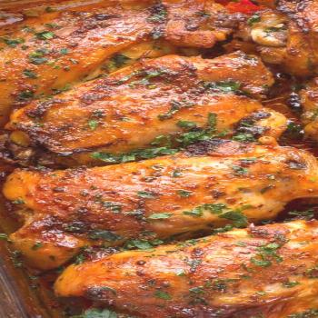 Baked Chicken Thighs Tender and juicy baked chicken thighs that are seasoned in a smoked paprika sp
