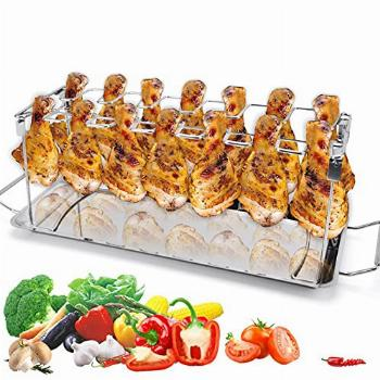 bnowi Grill Rack Chicken Thighs & Legs & Wings Stand Roaster