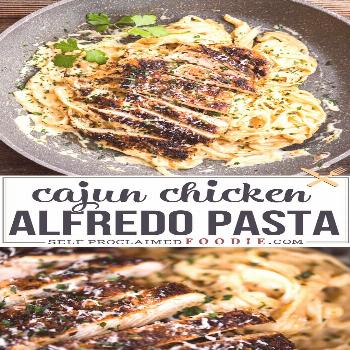 Cajun Chicken Alfredo Pasta is a quick and easy dinner with all the comfort of flavorful cajun chic