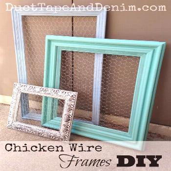 Chicken wire frames DIY. A quick easy way to display jewelry.  
