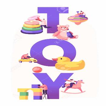 Childhood Activity Concept. Tiny Characters Playing with Huge Baby Toys and Diff...#activity