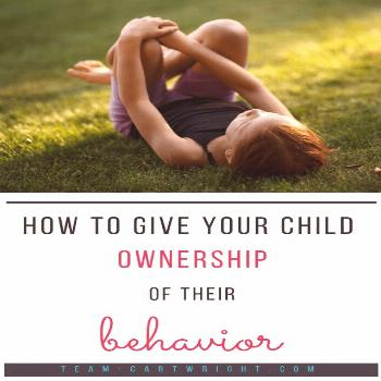 Children behave better when they have a sense of ownership over their behavior. Here is how to use