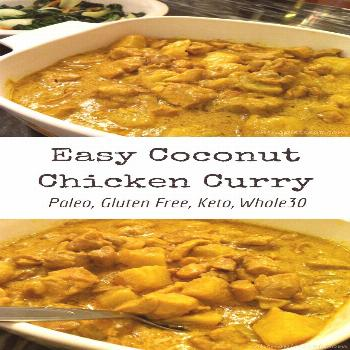 Coconut Chicken Curry is not only a super flavorful dish, but it's also easy to make and healthy fo