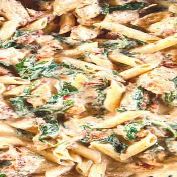 Creamy Tuscan Chicken Pasta This Creamy Tuscan Chicken Pasta is so deliciously flavored. Garlicky a