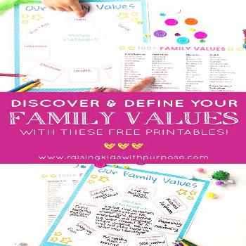 Discover Your Family Values Every single family has values. What's important to raise emotionally h