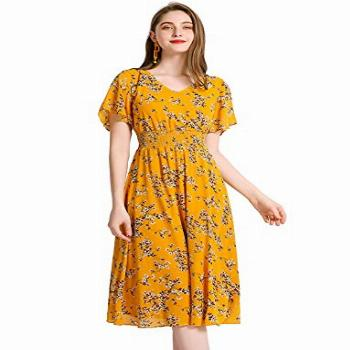 Gardenwed Floral Chiffon Dresses for Women Flowy Cocktail