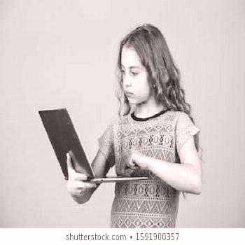 Girl with laptop computer. Little child using pc. Digital technology. Surfing internet. online, car