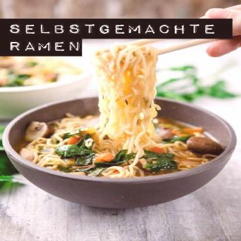Homemade ramen with tomatoes, spinach and mushrooms - a childhood sweetheart - kitchen chaotin  Hom