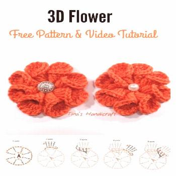 How to Crochet 3D Flower Granny Square Baby Blanket - childhood#baby