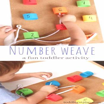 Keep you preschoolers hands busy while they practice their counting. Here you will find more play-b