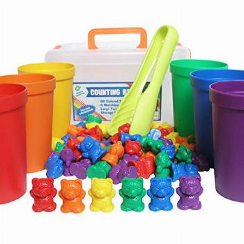 Legato Counting/Sorting Bears; 60 Rainbow Colored Bears, 6