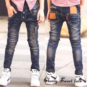 Male child jeans spring child trousers children's clothing fashion wild boy pants 3 4 5 6 7 8 9 10