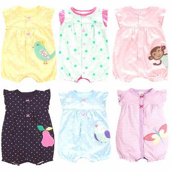 New Born Baby Clothes Cotton Baby Girl Clothes 2017 Summer Infant Girl Dress Jumpsuits Kids Costume