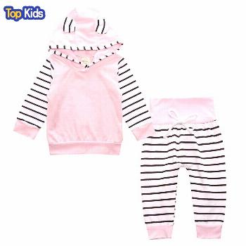 Newborn Baby Girls Clothes Hoodie Tops T-shirt+Cotton Pants 2pcs suit newborn baby boys girls cloth