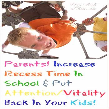 Parents! Increase Recess Time In School  Put Attention/Vitality Back In the Kids!     via @deeproot