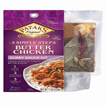 Patak's Butter Chicken Curry Sauce 3-Step Kit, Pre-measured