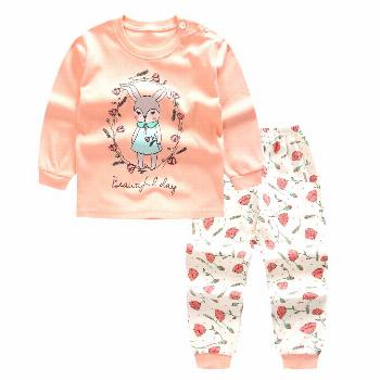 Pink Newborn Baby Girls Clothes Cute Smile rabbit Long sleeves+ Pant 2pcs autumn/spring Suit little