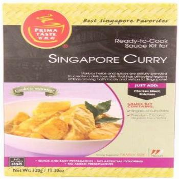 Prima Taste Singapore Curry Sauce Kit, 11.30 Ounce (Pack of