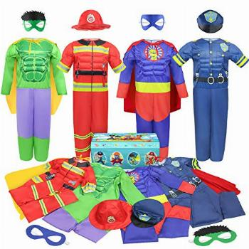 Teuevayl Boys Muscle Chest Dress up Costumes Trunk with