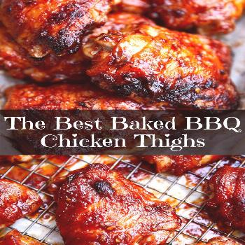 The Best Baked BBQ Chicken Thighs The Best Baked BBQ Chicken Thighs