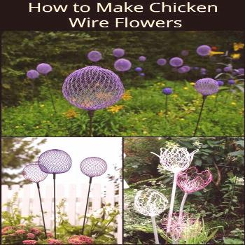 These Giant DIY alliums made from chicken wire makes great garden decors!