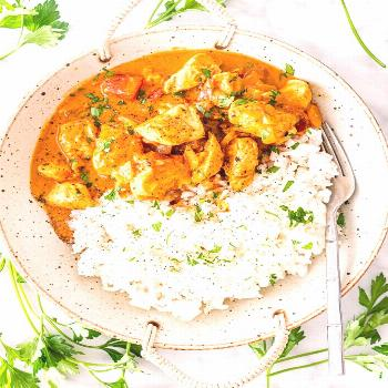 This Creamy Coconut Chicken Curry is delicious, healthy, made in one pot and best of all ready in o