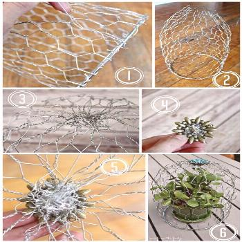 This simple DIY Wire Cloche adds eclectic charm to the home. Perfect for decorating the patio with