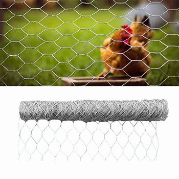 TINVHY 36Inch x 150 ft Galvanized Hexagonal Wire Poultry