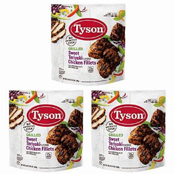 Tyson Grilled Sweet Teriyaki Flavored Chicken Fillets Fully