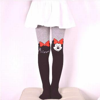 VEENIBEAR 2017 New Cotton Girl Tights Embroidery Cartoon Kids Children Pantyhose Spring Tights For