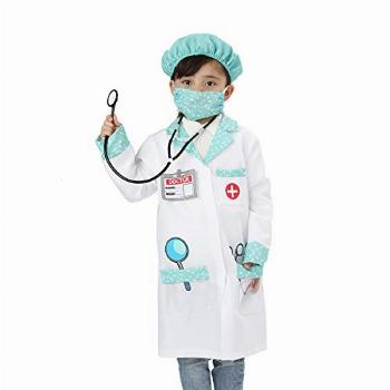 Wizland Child Role Play Costumes,Doctor Dress Up Playset