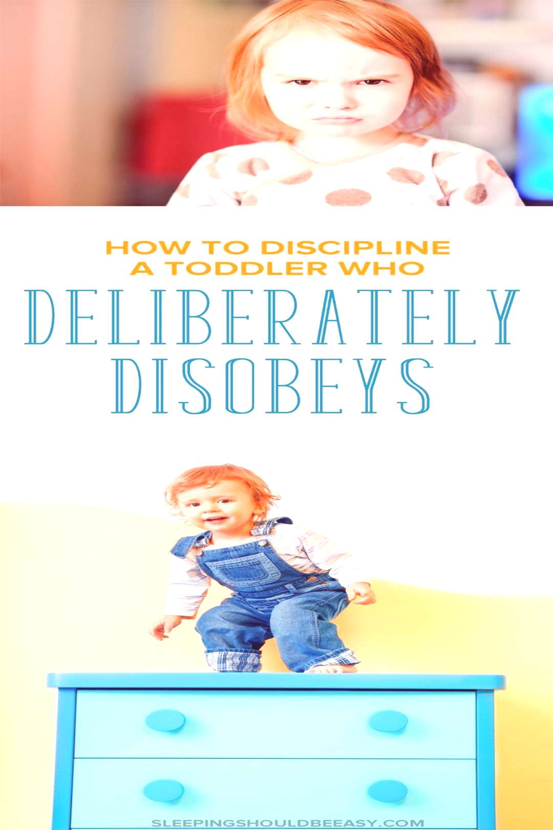 Actionable tips on how to discipline your toddler when he or she deliberately disobeys. How do you