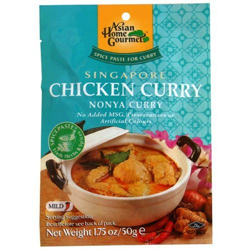Asian Home Gourmet Singapore Chicken Curry (Pack of 6x1.75z)