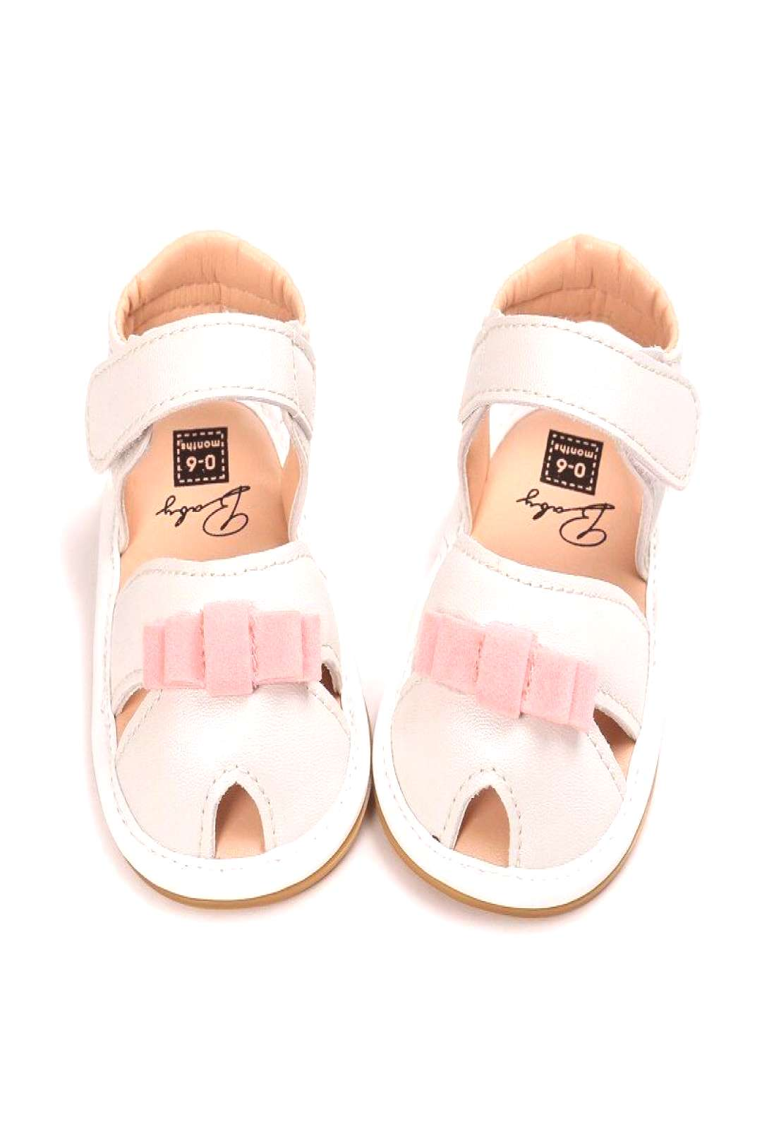 Baby Girls Bow Crib Shoes Princess Shoes Summer Newborn Infant Toddler Outdoor Soft Rubber Sandals