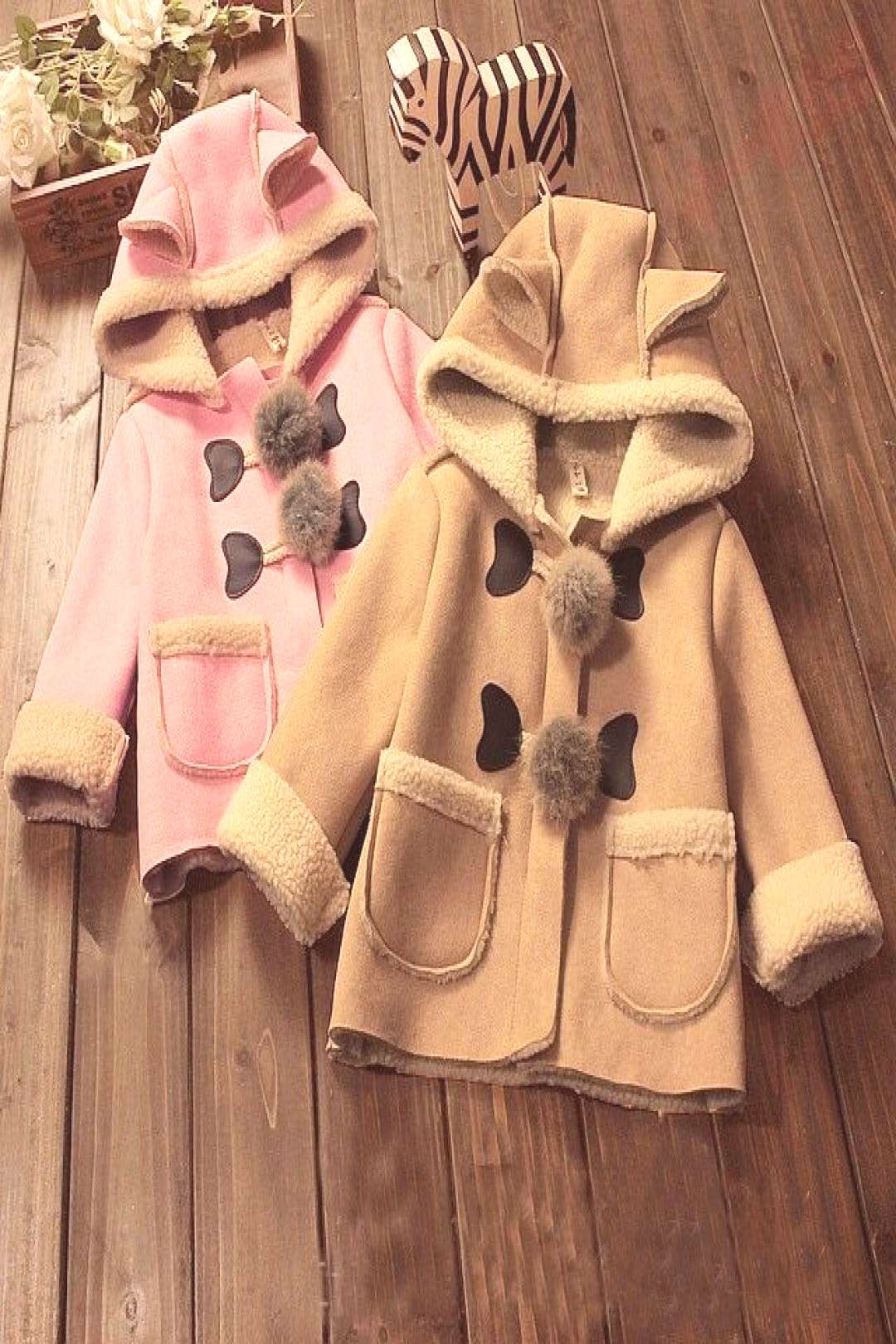 BibiCola Baby Girls Winter Jackets with hat for Baby girls boys newborn parka coat hooded baby jac
