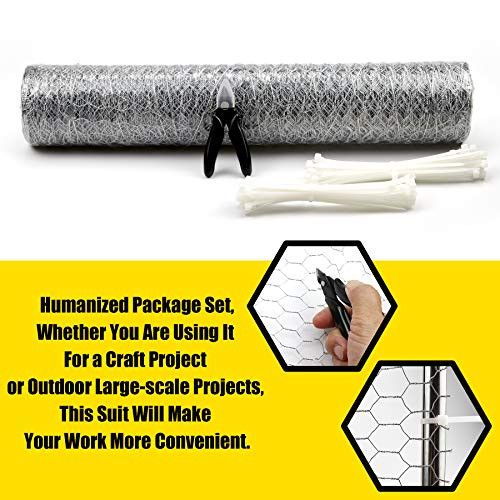 BSTOOL Chicken Wire Net 16.9in x 50ft for Crafts and